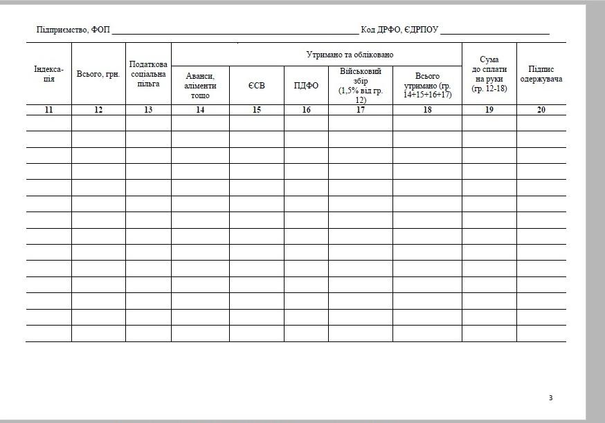 Відомість Нарахування Та Виплати Заробітної Плати Бланк - фото 11