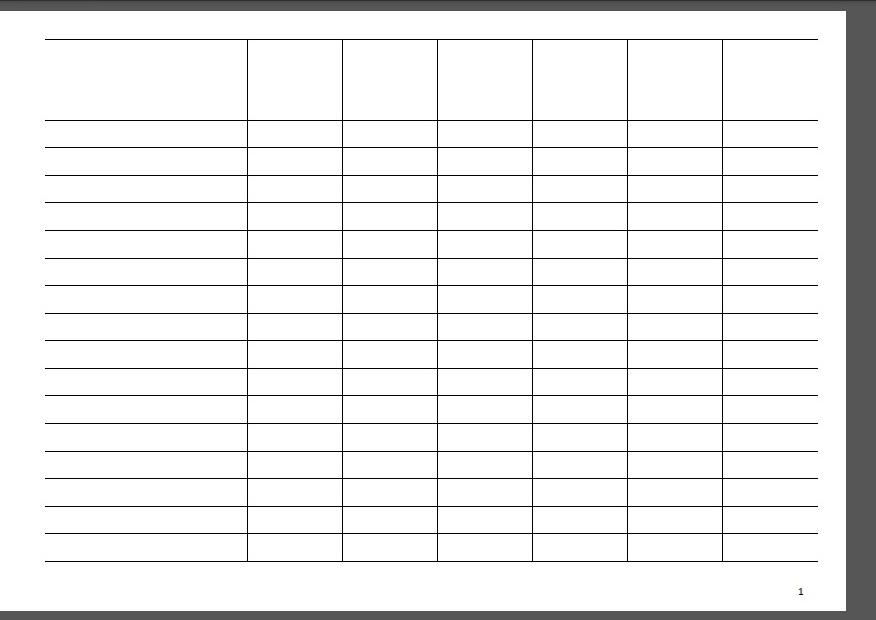Как сделать шаблон с таблицей