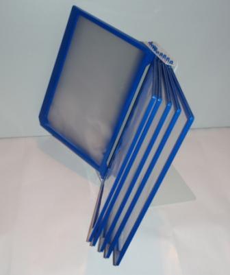 Демонстрационная система DATA FRAME А4 настольная на 10 синих рамок