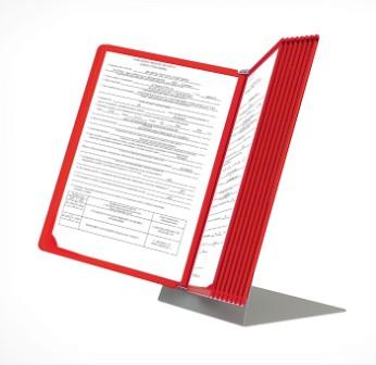 Демонстрационная система DATA FRAME А4 настольная на 10 красных рамок