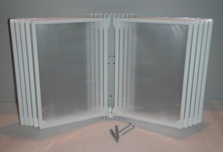 Демонстрационная система А4 настенная на 10 (десять) белых рамок плоская, Демонстрационная система А4 настенная на 10 (десять) рамок белый цвет