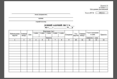 Дневной заборный лист (Приложение 10), Дневной заборный листок, Журнал поступления продукции кухни, Журнал учета продукции кухни, Журнал регистрации продукции с кухни ресторана, столовой, Приложение 10 к пункту 2.2 Методических рекомендаций по внедрению национальных положений (стандартов) бухгалтерского учета в сфере общественного питания и бытовых услуг, гармонизированных с международными стандартами, утвержденными Приказом от 17 июня 2003 года N 157, Отпуск готовых изделий в раздаточную, если она отделена от основного производства в заведениях (на предприятиях) общественного питания), Заборный лист столовая, столовая, ресторан, кафе, бар, заведение ресторанного хозяйства, Книга облику продукции кухни, Журналы общественное питание, Журналы для общепита