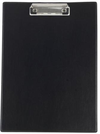 Планшет з кліпом Buromax (формат А4, PVC, колір чорний), Планшетка, Планшет з притиском, Секретарська дошка, Clipboard, Кліпборд А4, Кліпбоард А4
