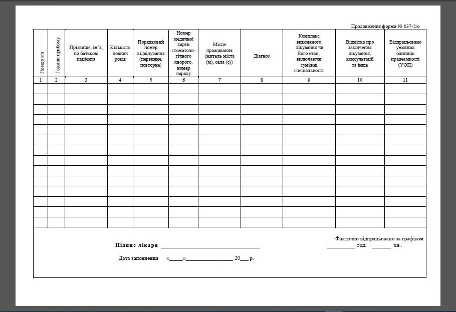 Листок щоденного обліку роботи лікаря-стоматолога-ортодонта, Листок щоденного обліку ортодонта ф. 037-2/о, ф.037-2/о, Форма первинної облікової документації № 037-2/о, Медична документація 037-2/о, N 037-2/о, Відомість щоденного обліку роботи лікаря-стоматолога-ортодонта, Журнал реєстраці роботи лікаря-стоматолога-ортодонта, Книга реєстраці роботи лікаря-стоматолога-ортодонта, Листок обсягу праці ортодонта стоматолога, Комплект журналів для стоматолога, Комплект документації в стоматологічний кабінет, стоматкабінет, клініку, Медична документація медсестри стоматологічного кабінету, Медична документація стоматологічного прийому, Стоматологічні журнали, Журнали в стоматологічному кабінеті, Бланки в стоматологічному кабінетіі, Бланки для  стоматологічного кабінету, Журнали стоматологічний кабінет, Журнали стоматкабинет, Журнали стоматологія, Журнали обліку стоматолога, Журнали для зубного лікаря, Журнали обліку зубного лікаря, Журнали обліку стоматологія, Журнали реєстрації стоматолога, Журнали реєстрації в стоматології, Журнали в стоматології, Журнали які ведуться в стоматології, Форми журналів в стоматології, Які журнали повинні бути в стоматології, Журнали для стоматологічного кабінету Україна, Документи стоматологічної клініки, Перелік документів стоматології, Список стоматологічної документації, Документація стоматологічної клініки, Журнали для дантиста, Журнали які ведуться в стоматології, Форми журналів в стоматології, Які журнали повинні бути в стоматології, Журнали для стоматологічного кабінету Україна, Документи стоматологічної клініки, Перелік документів стоматології, Список стоматологічної документації