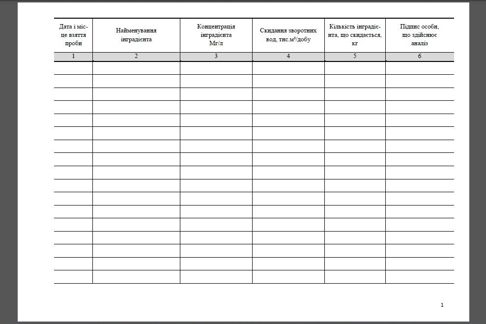 ПОД-13 «Журнал обліку якості стічних вод, що скидаються», форма № ПОД-13, ПОД-13 журнал, Журнал реєстраці якості стічних вод, що скидаються, Книга обліку якості стічних вод, що скидаються, Книга реєстрації якості стічних вод, що скидаються, Журнал аналізу стічних вод, Контроль за якістю стічних вод, Журнал якості стічних вод, Журнал обліку якості стічних вод, Журнал реєстрації якості стічних вод