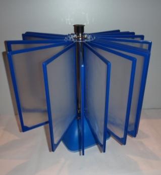 Демонстрационная система ROTOR FRAME ELITE А4 настольная на 10 десять синих рамок карманов панелей