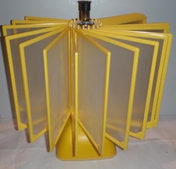 Демонстрационная система ROTOR FRAME ELITE А4 настольная на 20 двадцать желтых рамок карманов панелей
